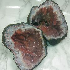 MOROCCO HEMATITE AMETHYST GEODE *Stalactites Crystals *Hematoid Quartz Nodule