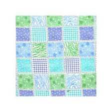 04821 Block Party Blue Green Aqua - Flannel Fat Quarter