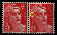 Mèches Liées sur GANDON 6f rouge, Neuf ** = Cote 100 € / Timbres France 721Ao
