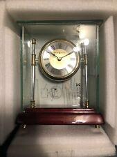 New Howard Miller 645-558 (645558) Kensington Table Clock Glass Desk Clock