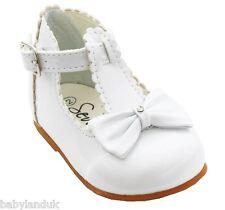 Sevva Baby Infant Girls Spanish Style Patent Walking Shoes + Bow Size 2 3 4 5 6