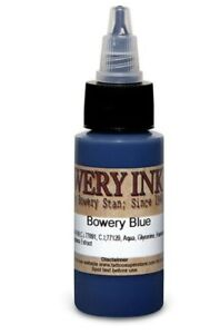 INTENZE Tattoo Ink Bowery Stan Artist Color Single Individual Bottle 1 oz 30 ml