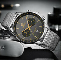Chronograph Date MVMT Style CHEETAH Luxury Fashion Quartz Stainless Steel Watch