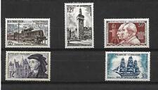 TIMBRES DE FRANCE. 1955. N°1024*-1025*-1033**-1034*-1035*