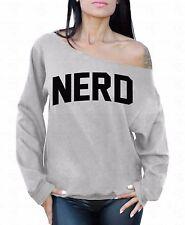 NERD Black Off the shoulder oversized slouchy sweater sweatshirt