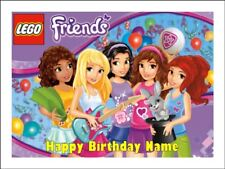 LEGO FRIENDS A4 Edible Icing Birthday Cake Party Decoration Topper #2