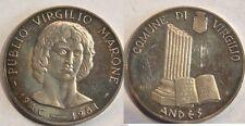 Medaglia Virgilio 1981 argento