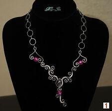 Versilberte Beauty Modeschmuck-Halsketten aus Perlen
