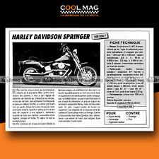 ★ HARLEY DAVIDSON 1340 SPRINGER ★ 1989 Essai Moto / Original Road Test #c695