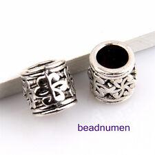 12pcs Zinc alloy nice flower charms big hole beads(6mm) 1B13