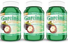 Garcinia Cambogia Extract 3 BOTTLES 1000mg XTRA STRENGTH 60% HCA WEIGHTLOSS