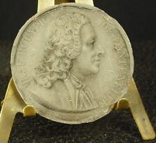 Medalla piedra arenisca XIX th Bernard Bouyer de Fontenelle ecricain 41mm