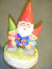 "Gorham 1979 Unieboek B V Grandfather Gnome & Children Music Box """" Japan"