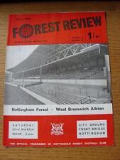 22/03/1969 Nottingham Forest v West Bromwich Albion  (light creasing)