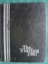 Springfield Oregon Thurston High School 1981 Yearling Annual Year Book
