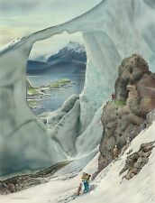 No.11 Larsen Ice Shelf, Antarctica Country Club  Hand Signed BY LOYAL H. CHAPMAN