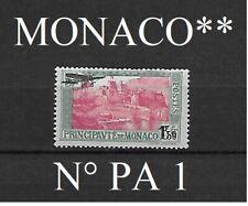Timbre de MONACO poste aérienne PA  1**