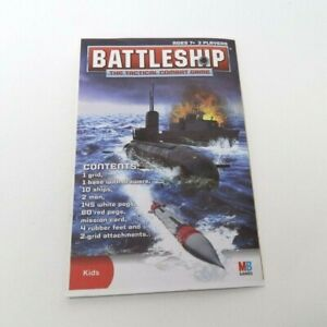 2008 Battleship Game Replacement Parts Pieces- Rules Instructions