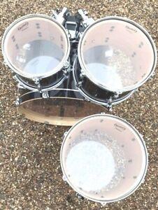 RockSolid Clear Single Ply Drum Head Skin Tom Packs