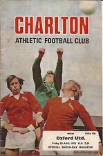 Football Programme - Charlton Athletic v Oxford United - Div 2 - 29/8/1975
