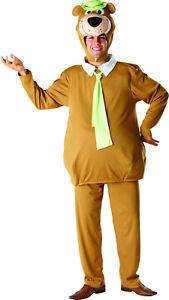 Mens Adult Yogi Bear 60s 70s 80s Cartoon TV Fancy Dress Costume Outfit
