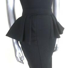 Bodycon Peplum Dress Black Fabulous Dolls Sleeveless Mini Low Back Party  8 10