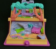 ❤ VtG 1995 Polly Pocket BlueBird Glitter Treasure Island Adventure Book PlaySet