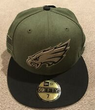 Philadelphia Eagles Salute to Service New Era 2018 59Fifty Fitted Hat Size 7 NWT