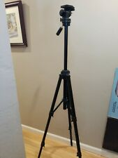 """Bilora Comprehensive Video Tripod Stand 6144 West Germany Nice Condition 60"""" Max"""