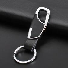 Key Chain Ring Keyring Keyfob Gift Men Fashion Creative Metal Hook Leather