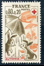 TIMBRE FRANCE NEUF N° 1861 **  CROIX ROUGE SAISONS AUTOMNE