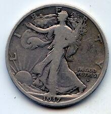 Walking Liberty half 1917-d obverse (SEE PROMO)