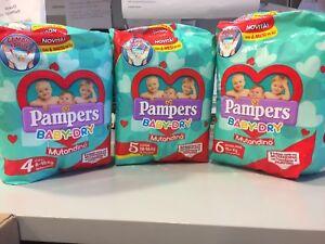 new 4 PAMPERS pannolini BABY-DRY MUTANDINA TAGLIA 5. (12-18kg)