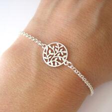 Bracelet motif arbre de vie végétal en argent 925 BR149