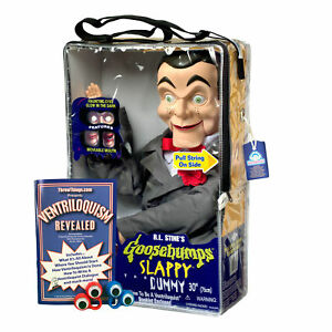 Bonus Bundle! Slappy / Goosebumps Ventriloquist Dummy Doll - New! Glowing Eyes!