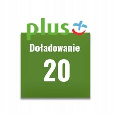 Doładowanie Plus 20 zł PLN AUTOMAT 24/7 PL WYSYŁKA W 2 MINUTY