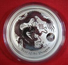 "2012 ~ .999 PURE 1 OZ. SILVER AUSTRALIAN ~ ""YEAR OF THE DRAGON"" W/ LION PRIVY!!"