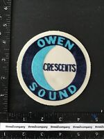 Vintage Owen Sound Crescents NHL Minor League Hockey Team Logo Patch Burlap