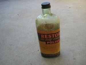 Retro Vintage Restoro Polish Bottle