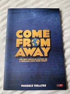 Come From Away  Souvenir Theatre programme London Westend Cast 2019