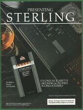 STERLING Danish cigarettes are not made by BANG & OLUFSEN -1984 Vintage Print Ad