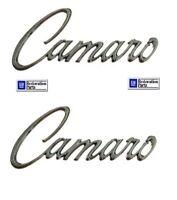 68 & 69 Camaro Chrome Die Cast Fender Emblems (PAIR) ** GM Restoration Parts**