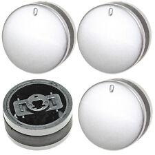 4 Control Knobs Silver Black for LAMONA LAM3200 LAM3300 LAM3207 LAM3404 Oven Hob