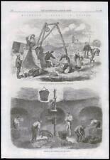 1869 antica stampa-France Paris Montrouge FUNGO cultura Grotta LAVORATORI (121)