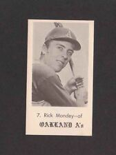 1969 Oakland A's Jack in the Box #7 RICK MONDAY Andersen RARE