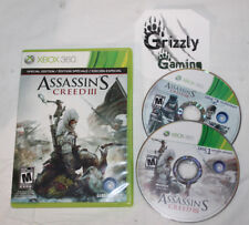USED Assassin`s Creed 3 XBOX 360 (NTSC) Tested and Working!