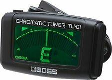 Boss Clip-on Chromatic Tuner Tu-01 Digital Guitar Bass Ukulele