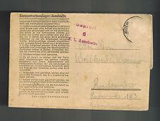 1943 Germany Auschwitz Concentration Camp Cover Poland Heinrik Wroblenski