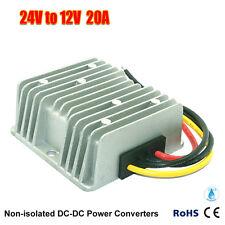 Waterproof DC 24V To DC12V 20A 240W Step Down Power Supply Converter Regulator