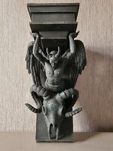 Baphomet Satanic Demon Goat of Mendes Pagan Occult Lucifer Wall Plaque Shelf